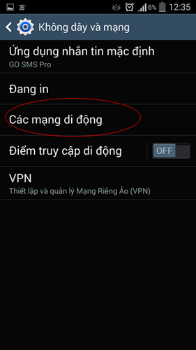 Cách bật/ tắt 3G trên điện thoại Android Smartphone 1