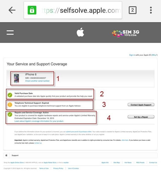 Cách kiểm tra số IMEI iPhone, iPad xem có chính hãng không 4