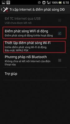 Cách phát Wifi trên điện thoại Android: Samsung, LG, HTC 2