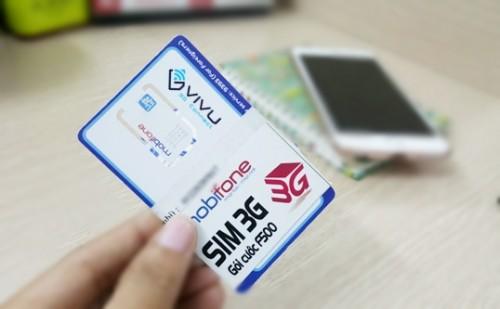 Sim 3G Mobifone F500