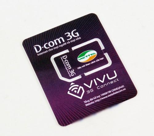 Sim 3G DC500 Viettel