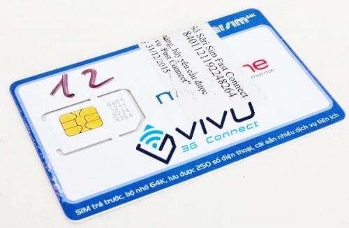 Sim 3G Mobifone trọn gói 10 tháng 40Gb