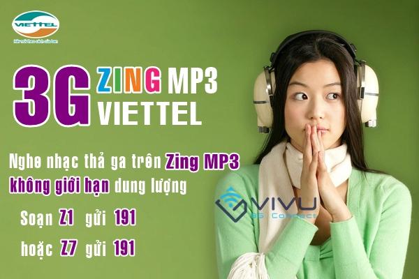 Dùng Zing không giới hạn data với gói 3G ZING Viettel