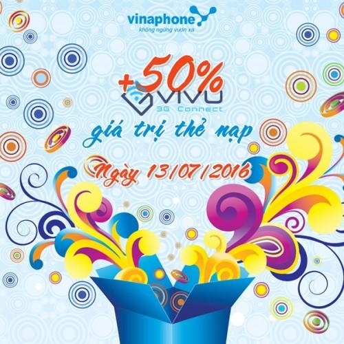 Vinaphone khuyến mãi cục bộ ngày 13/7/2016