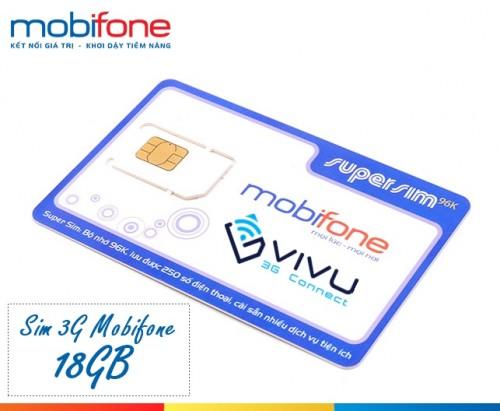 Sim 3G Mobifone 18GB