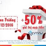 Mobifone khuyến mãi trực tuyến 50% giá trị tiền nạp ngày 2/12