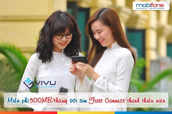 Dùng 3G miễn phí với sim Fast Connect thanh thiếu niên Mobifone