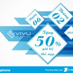 Vinaphone tặng 50% giá trị thẻ nạp ngày vàng 06/02
