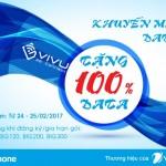 Vinaphone khuyến mãi data tặng 100% ngày 24 - 25/2