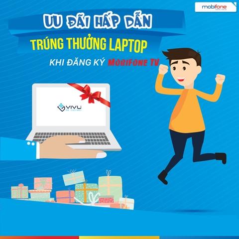 Đăng kí dịch vụ MobiFone TV để có cơ hội nhận ngay máy tính xách tay Macbook Air