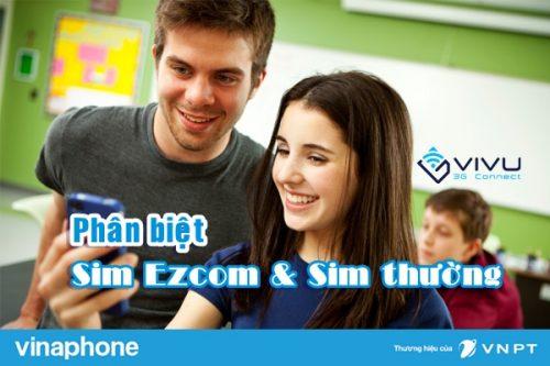 Cách phân biệt sim ezCom và sim thường Vinaphone