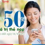 Mobifone khuyến mãi 50% giá trị nạp trong một ngày duy nhất 14/4/2017