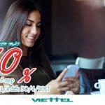 Viettel khuyến mãi 50% giá trị thẻ nạp từ 11/4 - 30/4/2017