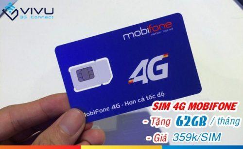 Sim 4G Mobifone ưu đãi 62GB/tháng lướt web tẹt ga, xem phim tốc độ cao