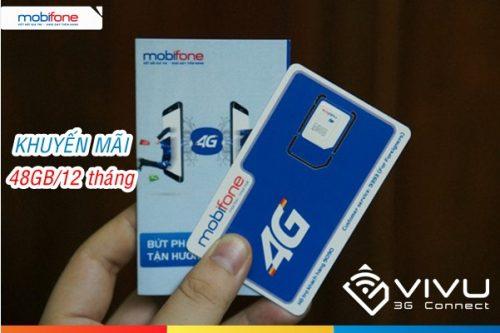 Sim 4G Mobifone 48GB trọn gói 12 tháng siêu ưu đãi